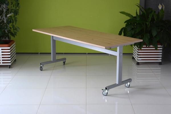 Schultisch, Konferenztisch Jupiter kippbar, klappbar auf Rollen. 120 x 80 cm