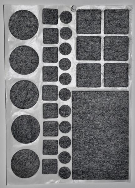 Filzplatten und Gleiter Mix ( 31 Stück )