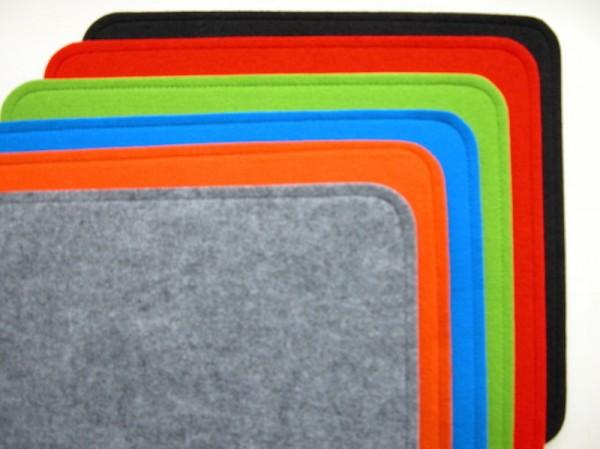 Filzkissen 36 x 32 cm Gepolstert/Antirutsch-grau/anthrazit