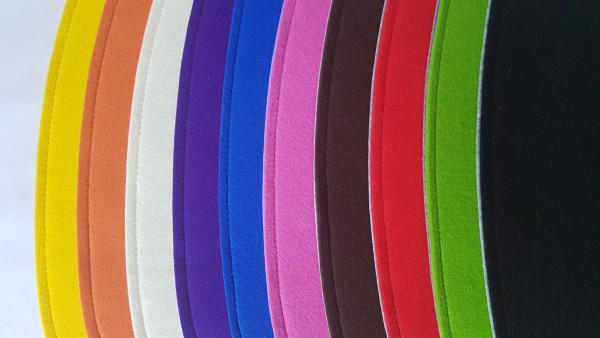 """Eckiges Sitzkissen """"einfach"""" aus ECO-Filz in Ihrer Wunschfarbe OHNE Antirutsch"""