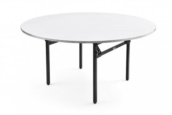 Banketttisch rund klappbar, Durchmesser D - 180 cm 76 cm Hoch mit Lärmschutz