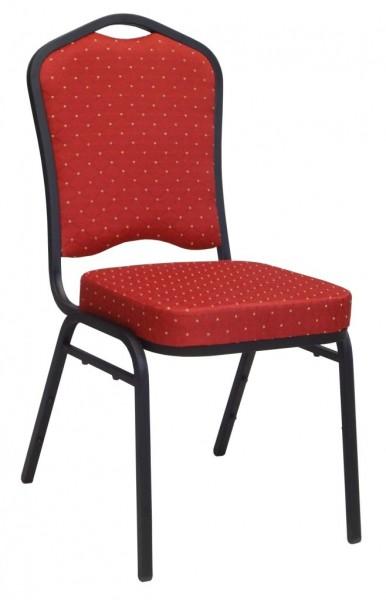 Bankett Stuhl ET68123 schwarz-matt/rot