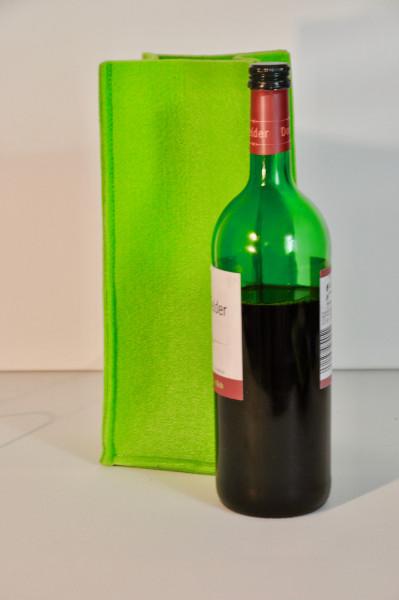 Wein Tasche Filz, 24 x 8 x 8 cm