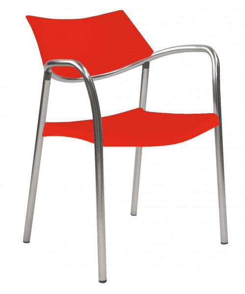 RESOL Stuhl SPLASH mit Armlehnen (4er Set)