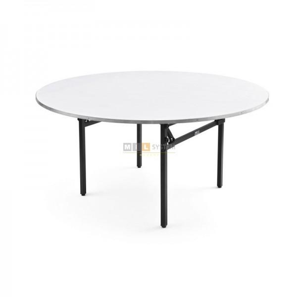 Banketttisch rund klappbar Durchmesser D - 160 cm 76 cm Hoch mit Lärmschutz